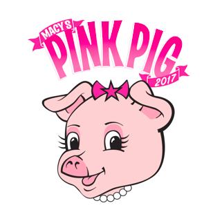 pink pig ride at Macy's