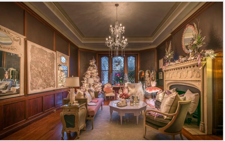 圣诞展在Callanwolde 宅邸